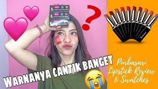 Purbasari Lipstick Review & Swatches | LIPSTIK MATTE LOKAL SEBAGUS ITU??!