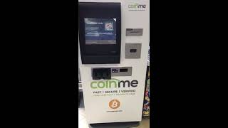 How to use a Bitcoin ATM!! Coinme/ Uptoken ICO live until nov. 10th