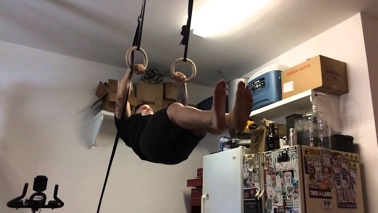 Muscle ups in garage at lbs youtube