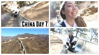 China Day 7: Climbing The Great Wall Of China, Crazy Toboggan Accident, And Kfc In China