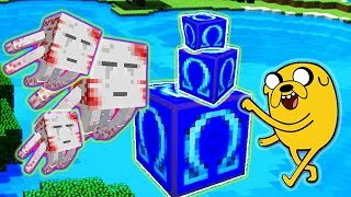 LUCKY OMEGA BLOCKS ADVENTURE TIME BOSS MOD CHALLENGE - MINECRAFT MODDED MINI-GAME!