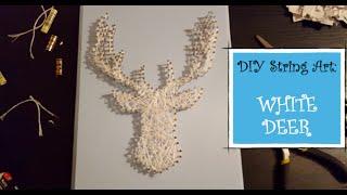 DIY String Art: White Deer