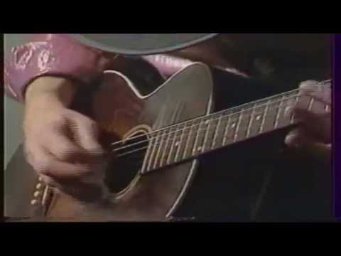 Stevie Ray Vaughan ,rare accoustic guitar solo, Houba houba 1983avi