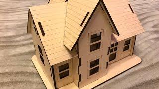 Собираю пазл конструктор деревянный дом для детей