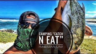 Camping Hawaii - Caтch n Cook - Uni, Opihi and Papio EP 23