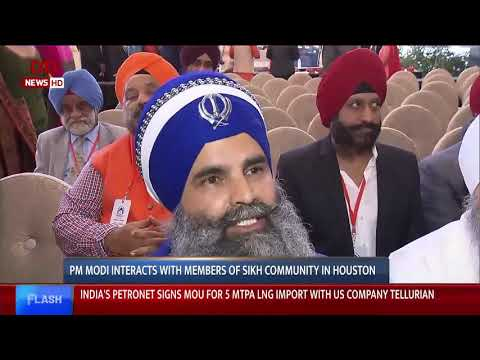PM Modi interacts with members of Sikh Community in Houston