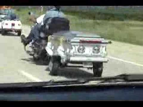 Casket Driven By Motorcycle Youtube