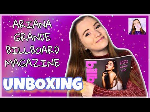 Ariana Grande BILLBOARD MAGAZINE Unboxing   Sara Harlee