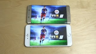 fifa 16 ultimate team samsung galaxy s6 edge vs iphone 6 plus gameplay review