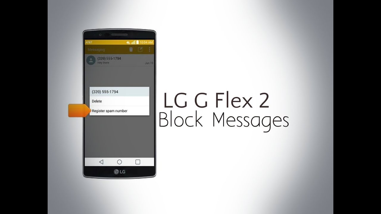 Lg G Flex 2  Block Messages