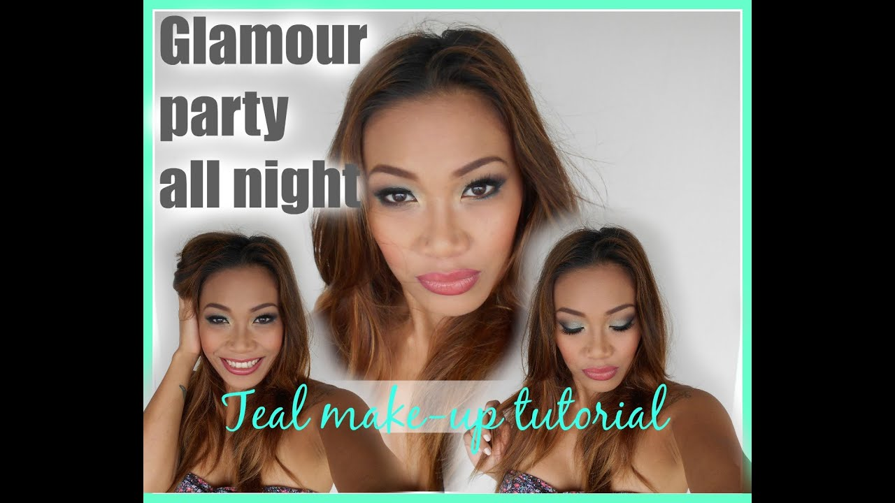 Glamour Party All Night|TEAL MAKE_UP TUTORIAL|mich_ika4you - YouTube
