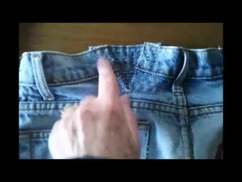 Expand The Waistband Of Your Jeans Without A Sewing Machine YouTube Fascinating How To Take In Jeans Without A Sewing Machine