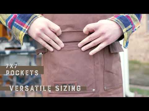 Waxed Canvas Heavy Duty Shop Apron With Pockets [Using Guide]