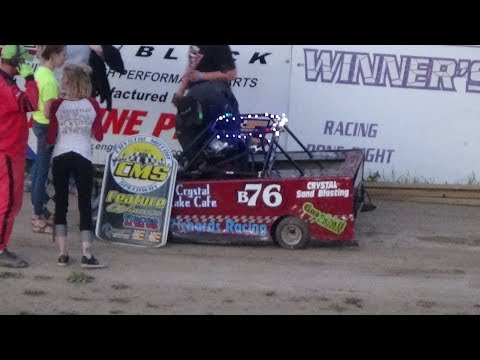 Mini Wedge Feature Race #1 at Crystal Motor Speedway, Michigan, on 05-28-17.