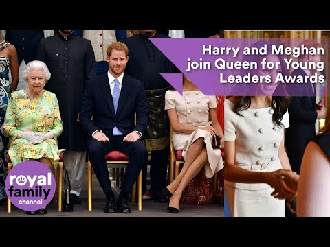 The Duke and Duchess, Prince Harry and Meghan join Queen for Young Leaders Awards