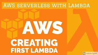 Creating First Lambda #04