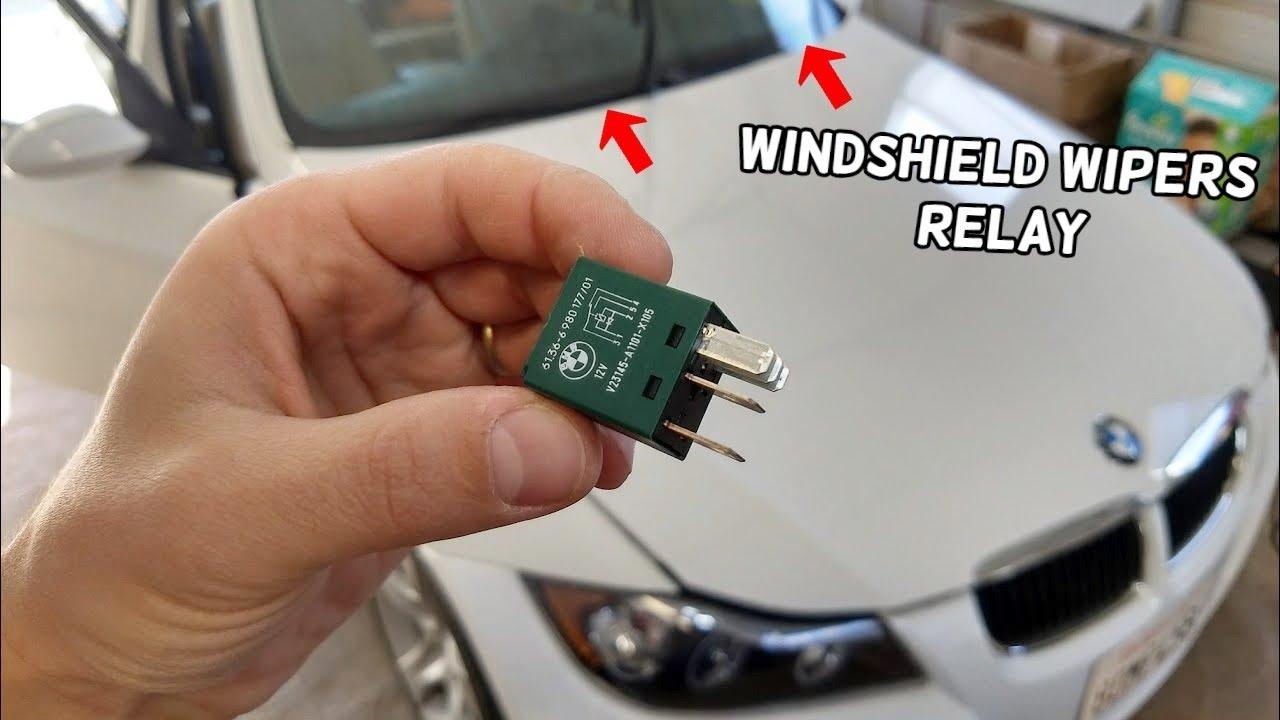 WINDSHIELD WIPERS RELAY LOCATION BMW E90 E91 E92 E93