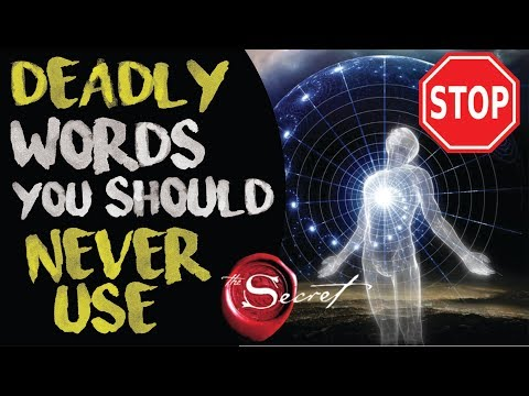 3 Deadly Words That Are Stopping The Law Of Attraction From Working   The Secret