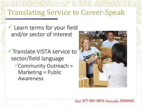 Translating VISTA Service to Your Resume and Career