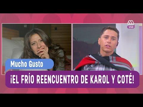 ¡El frío reencuentro de Karol y Coté! - Mucho Gusto 2017