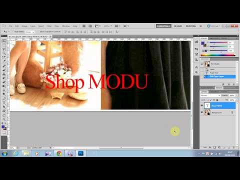 Chèn chữ vào hình bằng photoshop CS5