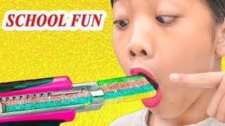Cách Giấu Kẹo Vào Lớp Bị Phát Hiện ❤ Lớp Học Nhí - Trang Vlog