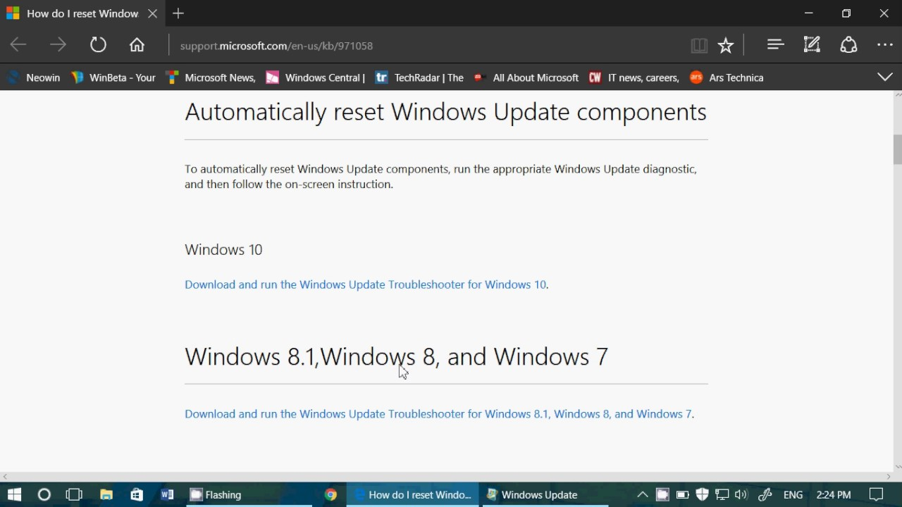 Windows update Fixit tool for Windows 10 8 1 8 and 7 also for Insiders who  can update builds