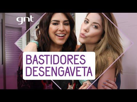 Fê Paes Leme e Mica Rocha se divertem em bastidores de gravações   Desengaveta