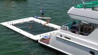 M/Y Just Enough: Yacht Slide + Critter Free Pool & Liquid Rail Video