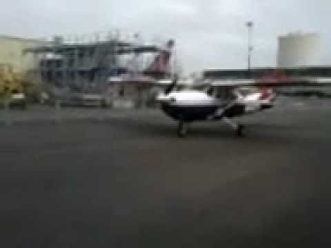 Civil Air Patrol Plane taxiing to hanger