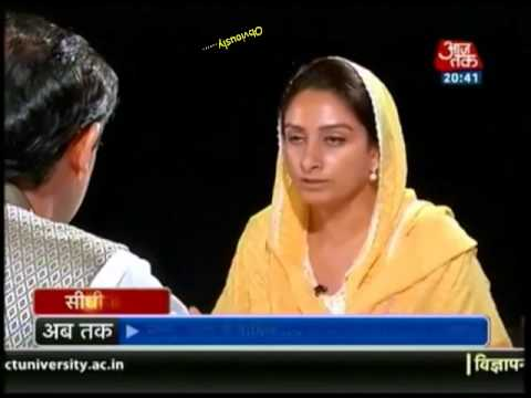 Harsimrat Kaur Badal Defending Akalis on drug issue
