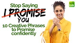 Learn 10 Creative English Phrases to Say 'I Promise You' confidently   Spoken English Lesson - Meera