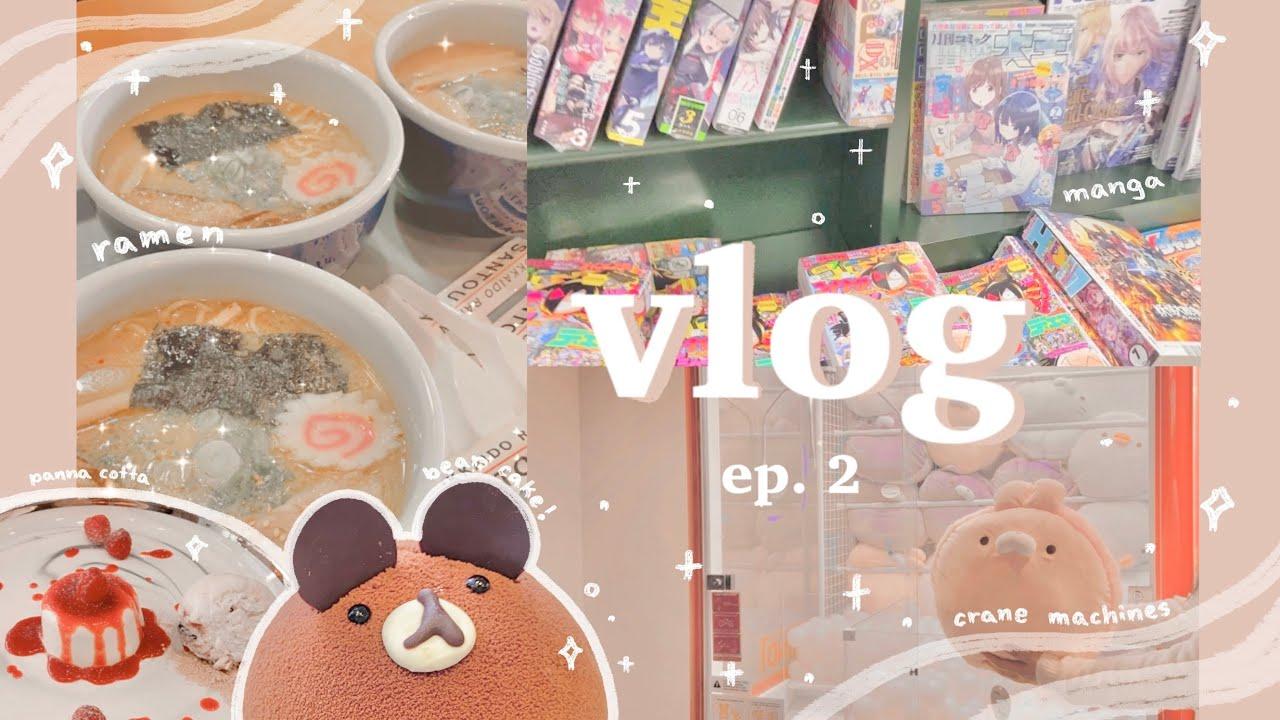🍜 vlog ep. 2 ~ random days // cherry picking, polcos, dessert cafe, crane machines, manga store