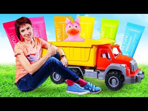 Машинки и Маша Капуки - Песочница и Уточка Единорог! Видео с игрушками для детей