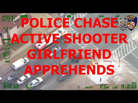 Baltimore Police Chase Active Shooter, Suspect Taken Into Custody By His Girlfriend