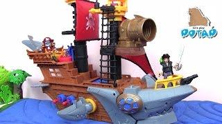 Игрушки для Мальчиков. Пиратский Корабль с Акульей Пастью Мультик Про Пиратов. Видео для Детей