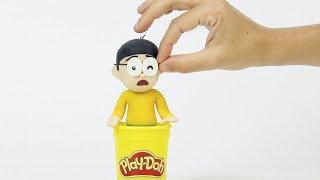Nobita Doraemon clay cartoon 💕Superhero Play Doh Stop motion for children