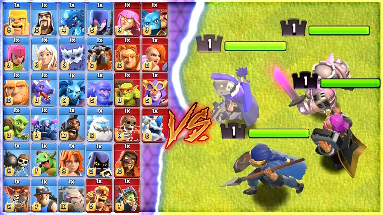 MAX TROOPS VS LEVEL 1 HEROES💥 | WHO WILL WIN ?? | CLASH OF CLANS |