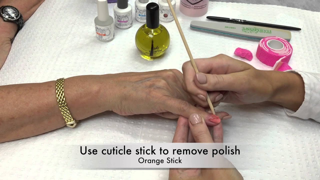Gelish Gel Polish Removal Process - YouTube