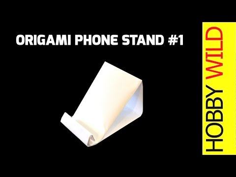 How To Make A Paper Phone Stand: Phone Holder Design #1 (Origami)