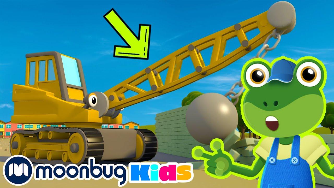 The Wrecking Ball Crane - Cars Cartoons   Gecko   Gecko's Garage - Trucks For Children