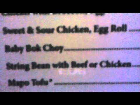 China Star Chinese restaurant menu