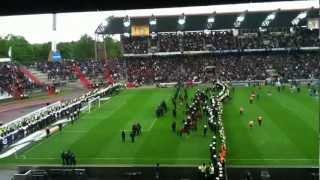 KSC - Eintracht Frankfurt 1:0 / Schlusspfiff+ Polizeiaufstand