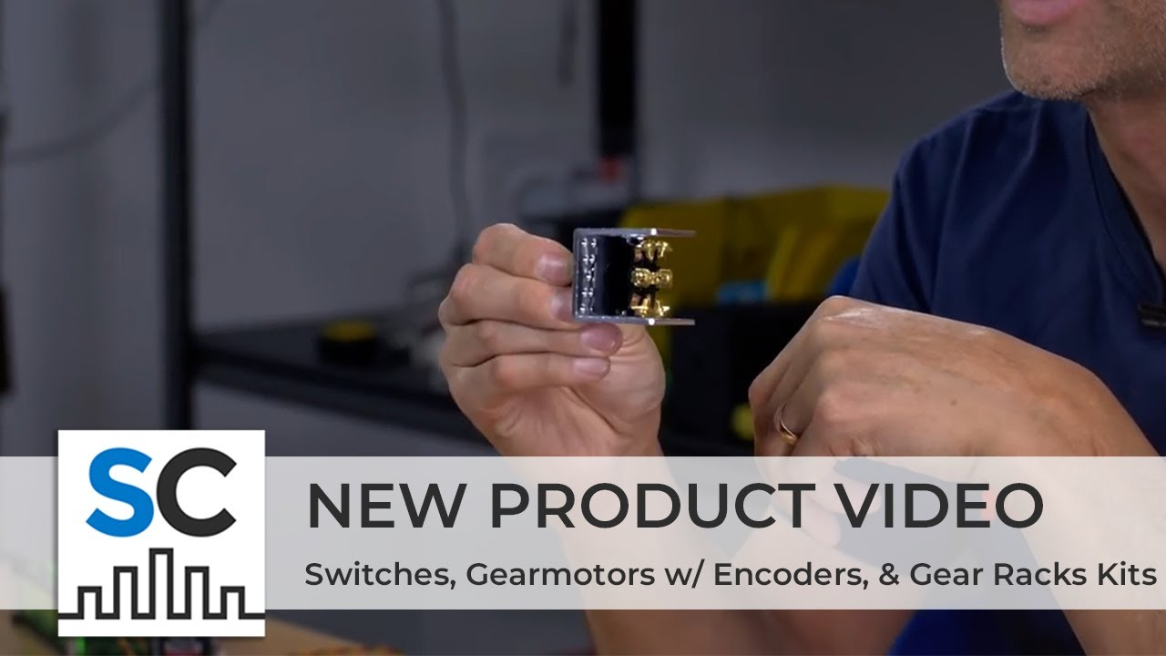 ServoCity Products: Switches, Gearmotors w/ Encoders, & Gear Rack Kits