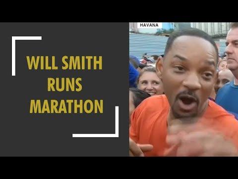 Hollywood star Will Smith runs Havana marathon in Cuba