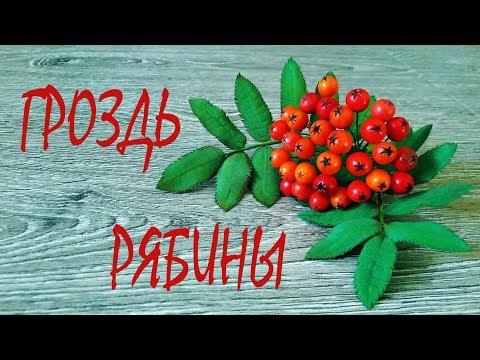 Как сделать ягоды рябины из бумаги своими руками