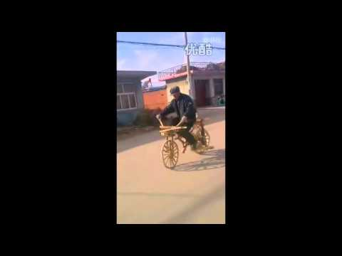 Man Makes A Bicycle Completely Out Of Wood!