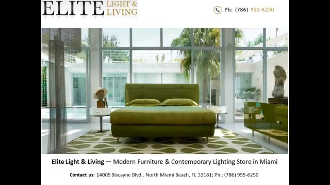 Elite Light Living Modern Furniture Store Miami FL YouTube