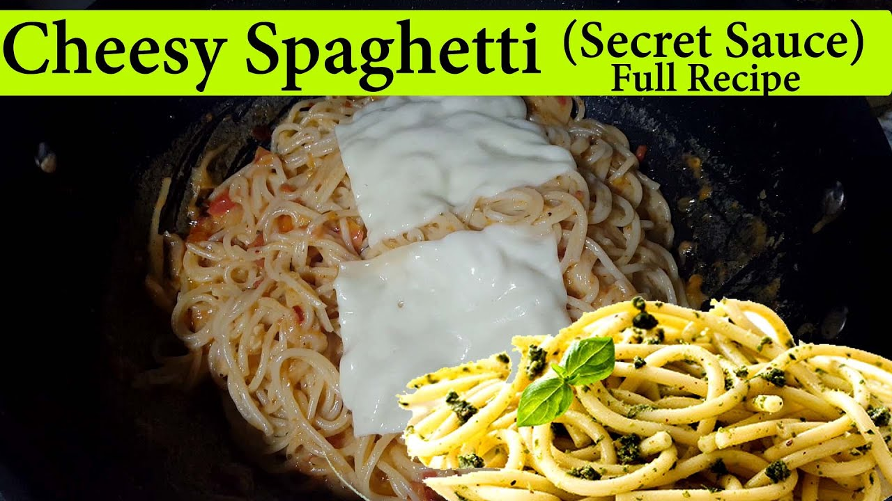 Spicy Cheesy Spaghetti Recipe   Homemade Spaghetti Pasta Recipe by Abdullah Adil