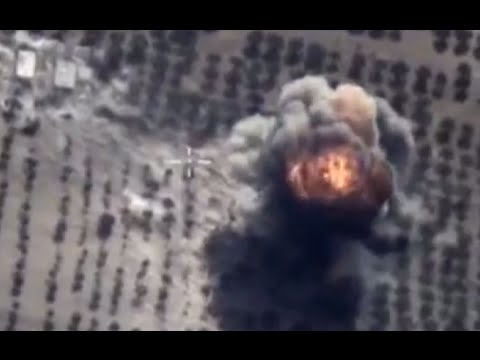 Russian military combat cam: Jets bomb ISIS command center, fuel depot in Idlib province, Syria